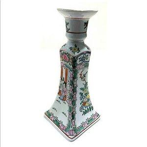 China 19th Rose Medallion Vintage Porcelain candle